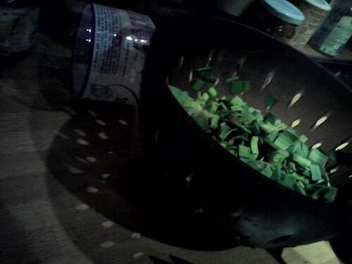 Soupe de légume d'un soir où ils prévoient de la neige (ok, ok, on a eu que 3 flocons, mais il faisait froid^^)