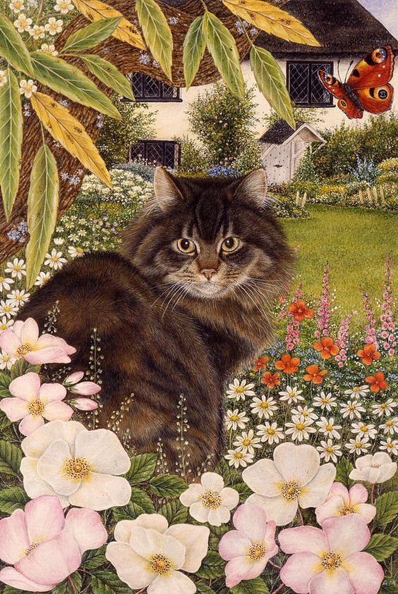Country Cat Painting