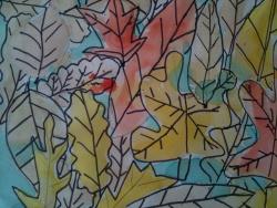 Le tapis de feuilles