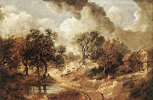 Thomas Gainsborough - Landscape in Suffolk - WGA8402