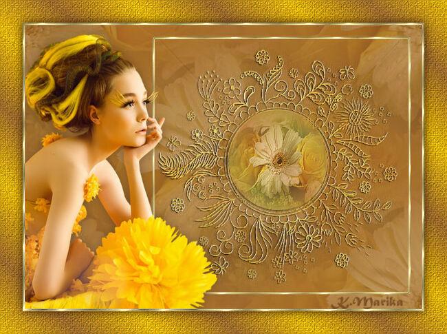 Sárga virágos