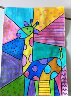 Girafes très colorées