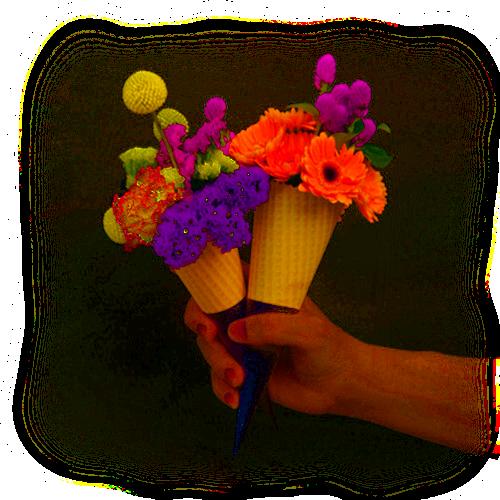 glace ou fleur