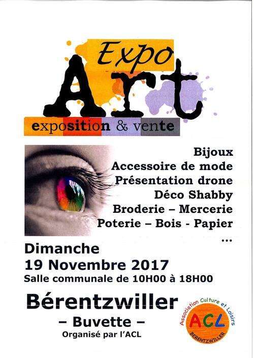 Art'Expo Bérentzwiller les 18 et 19 novembre 2017