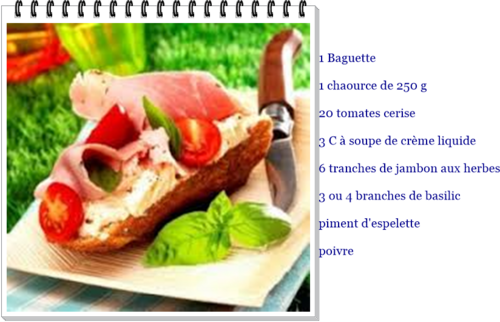 Tartine au chaource