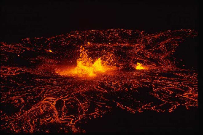Kilauea. Eruption 1974