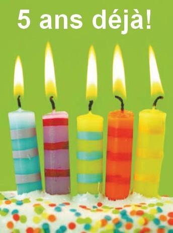 Anniversaire 5 bougies
