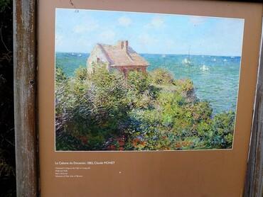 La Cabane du Douanier. Tableau de Claude Monet (1882)