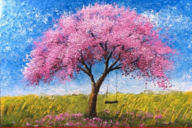 Dessin Et Peinture Video 3099 Comment Peindre Avec Du Papier Aluminium Peinture Acrylique Lapalettedecouleurs