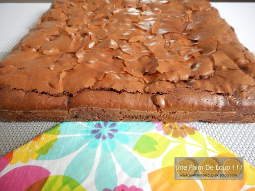 Brownie aux pépites de chocolat blanc