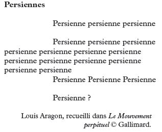 """Poésie """"Persiennes"""" de Louis Aragon"""