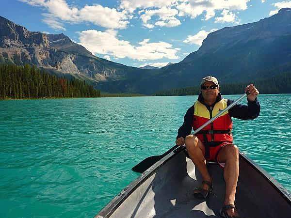 Jour 18 Emerald Lake canoé Norbert