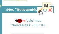 """Annoncer les """"Nouveautés"""""""