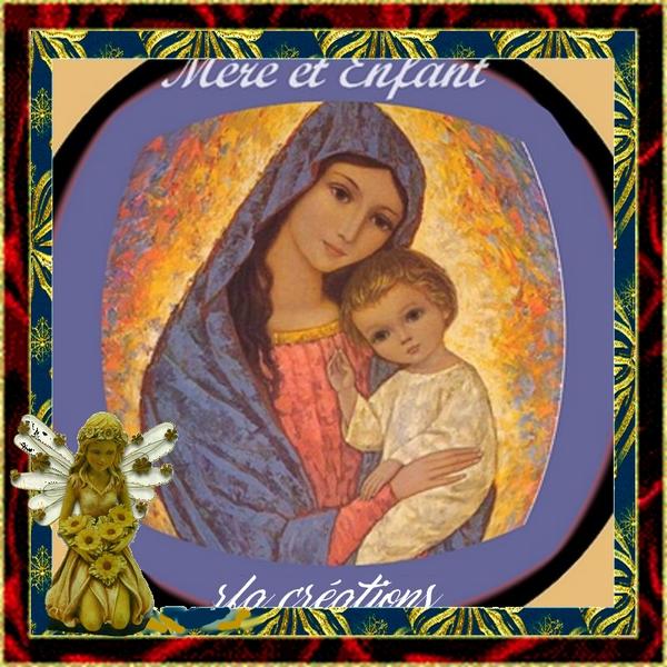 LA MÈRE ET ENFANT (VIERGE MARIE ET JÉSUS)