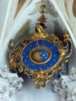 Uhr in der Barockkirche am Bodensee