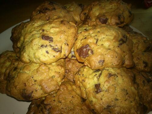 des Cookies Banane chocolat