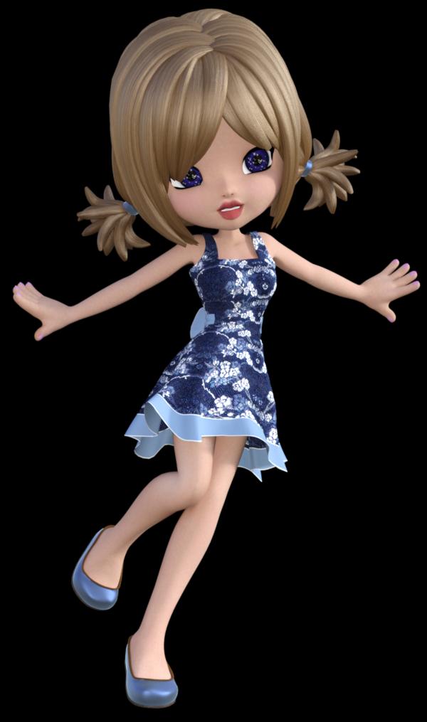 """Tube """"Cookie"""" en robe fleurie (image)"""