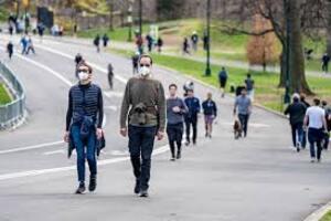 books walking park face mask park