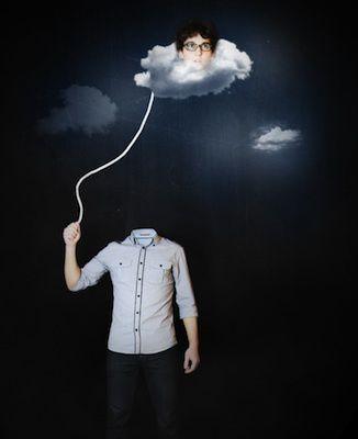 Dans les nuages ...
