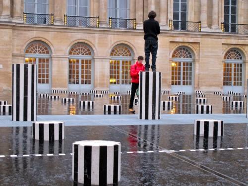 Buren colonnes rénovées Palais Royal Perché