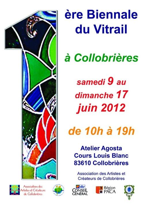 1ère Biennale du Vitrail à COLLOBRIERES