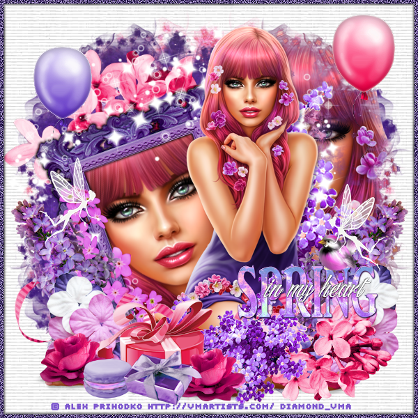 "Tutoriel ""Spring in my heart"" de Liligraph"