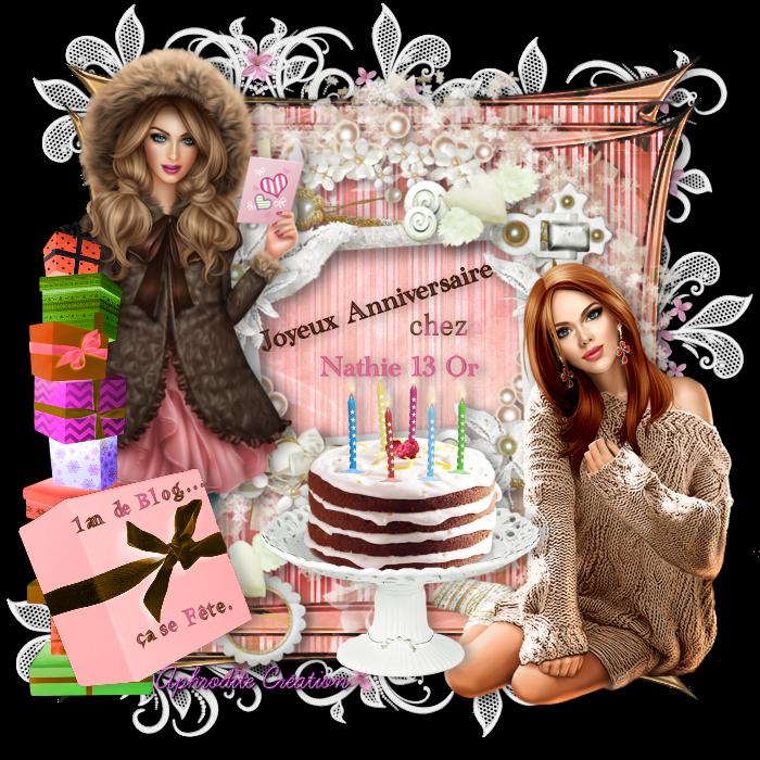 Cadeau Anniversaire pour les 1 AN de son blog partage