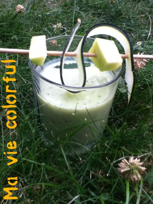 smoothie: courgette à la menthe
