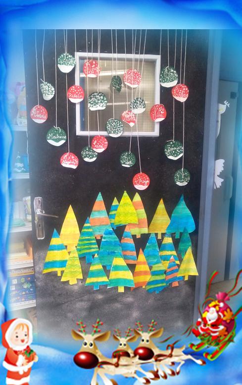 Decoration De Porte Pour Decembre L Ecole De Crevette