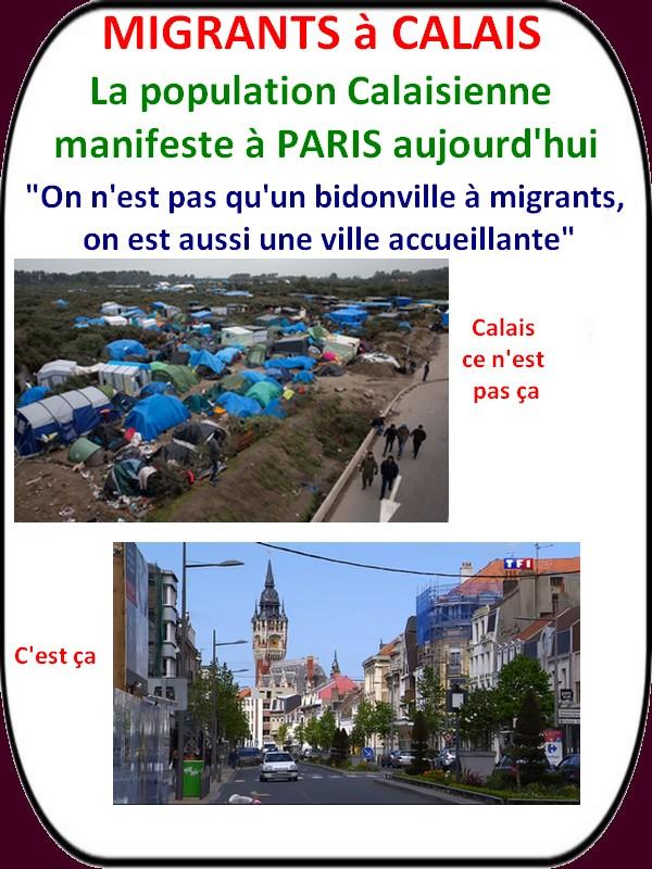 Les calaisiens manifestent à Paris pour leur ville envahie par les migrants!