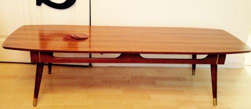 Table basse de salon années 60