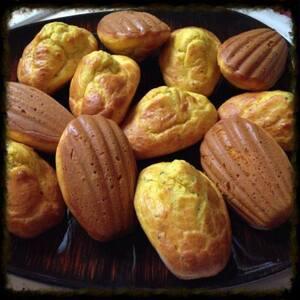 Madeleines salées aux épices et moutarde de Dijon