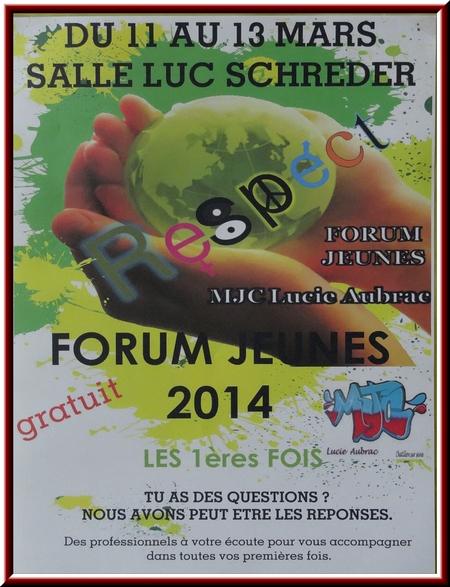 """Le Forum Jeunes de la MJC Lucie Aubrac : """"la première fois""""..."""