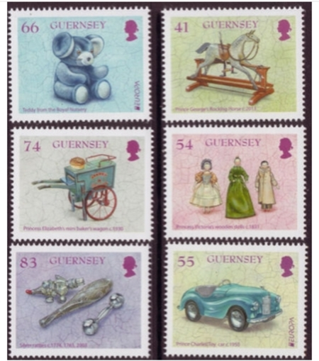 D126 Les timbres Monaco, Jersey, Guernesey