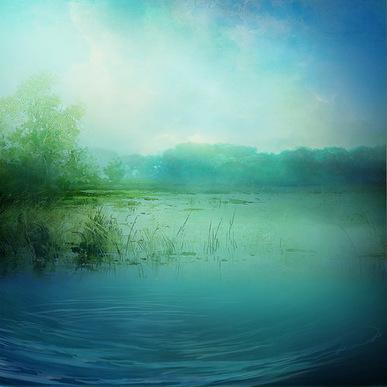 Fonds textures - thème paysage lacs/rivières
