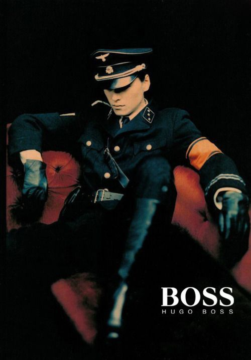 Hugo Boss started his clothing company in 1924 in Metzingen. His company was supplier for Nazi uniforms since 1924. Hugo Boss was one of the firms contracted by the Nazis to design the black SS uniforms along with the brown SA shirts, and the Hitler Youth uniforms.: