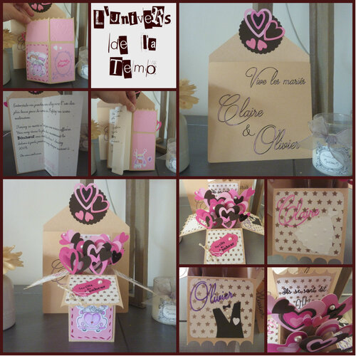 Carte boîte pop-up Mariage