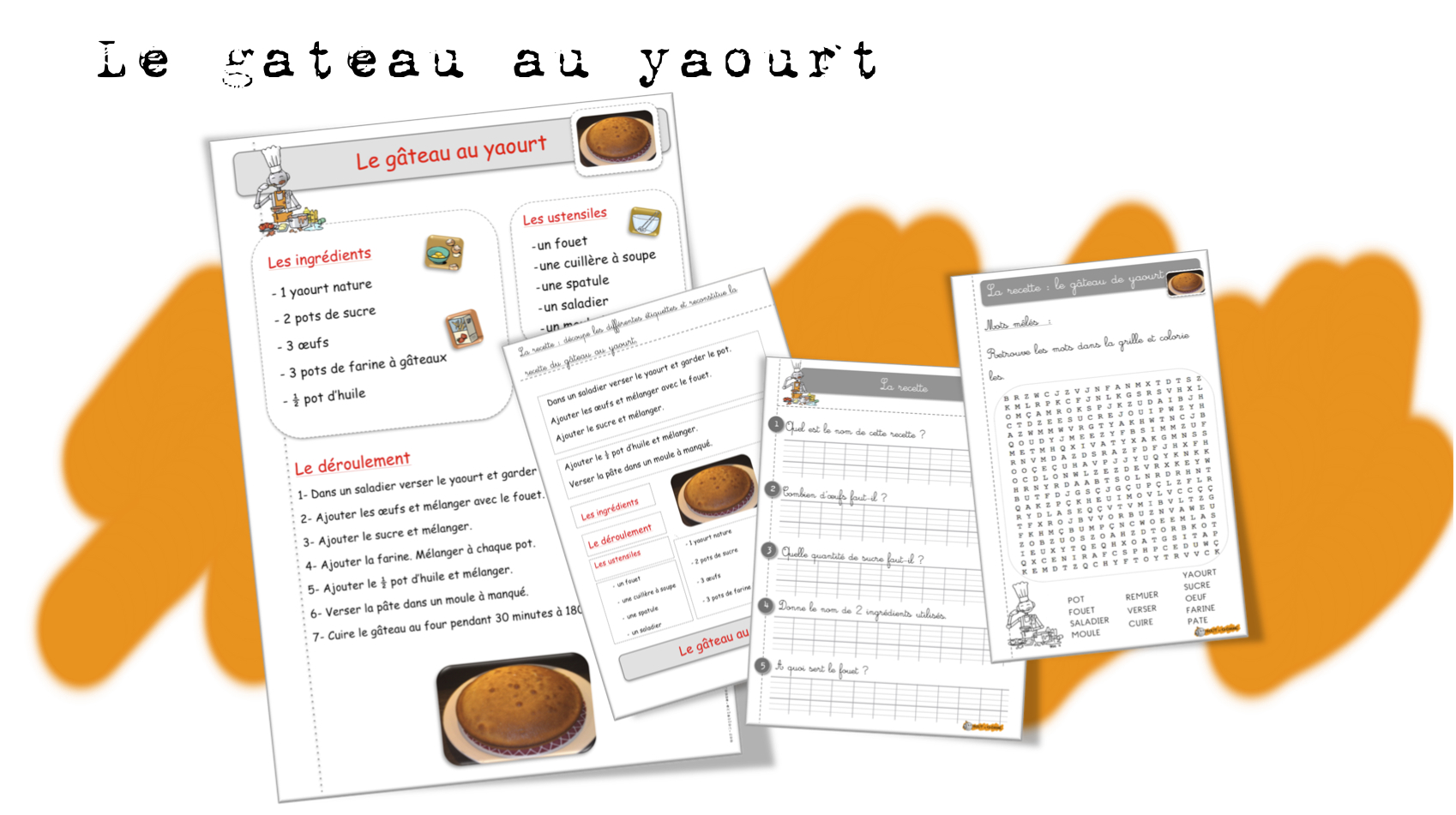 Recette gateau au yaourt illustree
