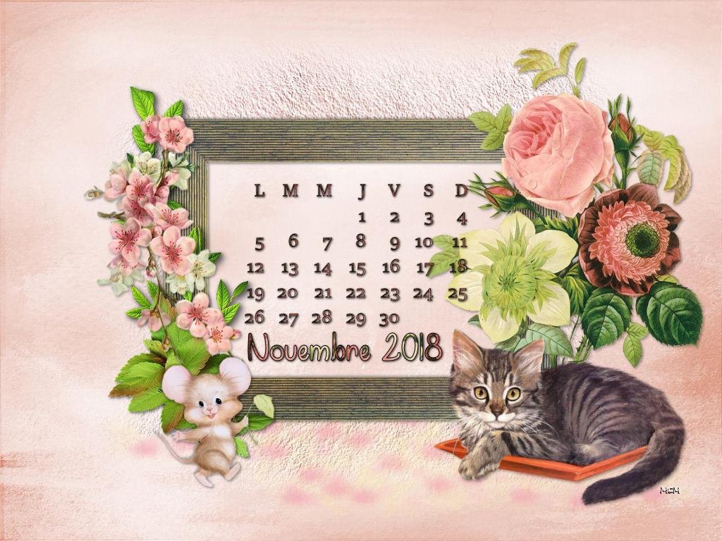 Fond D Ecran Calendrier Novembre Mcreations