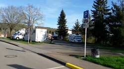 Circuit Belgique en camping car Avril 2018,Aire de services de Dudelange Luxembourg