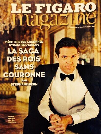 Figaro mag : Louis de Bourbon en couv'