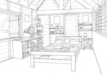 Aquarelle Chambre