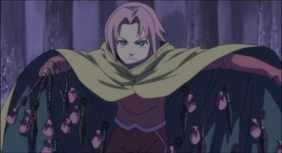 sakura et sa réserve de kunai