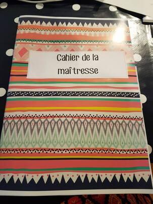 Le cahier de la maîtresse