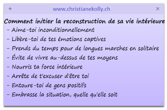 comment initier la reconstruction