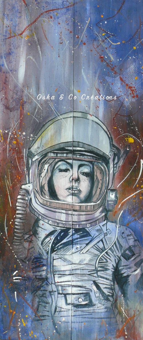 Cosmonaute, reproduction en hommage à l'artiste Russ Mills