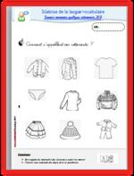 Vocabulaire - les vêtements