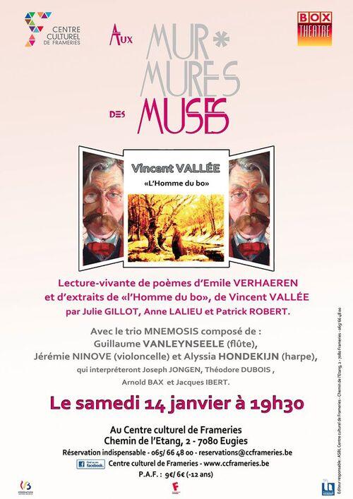 """Retrouvez Vincent Vallée pour une lecture d'extrait de son livre """"L'homme de Bo"""" à Eugies (Belgique)"""