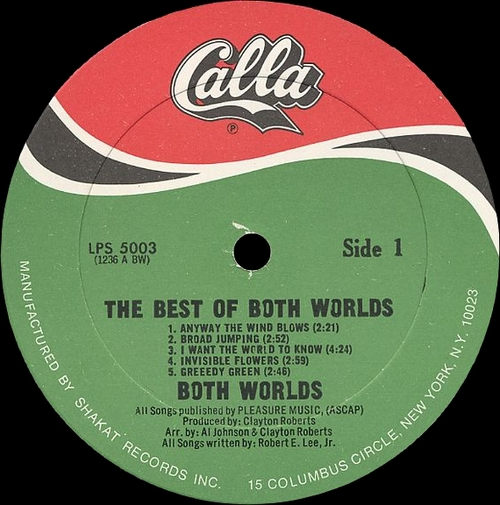 "The Best Of Both Worlds : Album "" I Want The World To Know "" Calla Records LPS 5003 [ US ]"