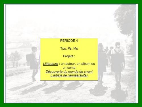 Programmation période 4